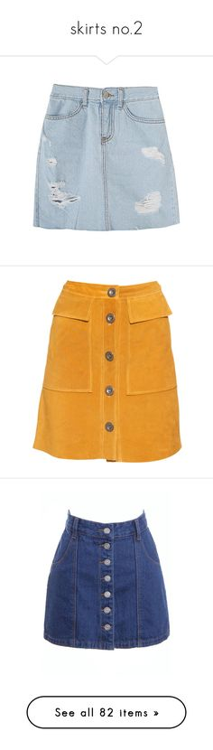 """skirts no.2"" by madlenvarhol ❤ liked on Polyvore featuring skirts, bottoms, clothes - skirts, denim, stone skirting, blue skirt, high waisted a line skirt, yellow high waisted skirt, mustard skirt and a-line skirt"