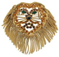 Vintage costume jewelry from the 1960s. Unique Lion Head brooch/pin designed by Dominque. Visit my site: https://www.etsy.com/listing/168653728/bling-alert-pre-xmas-sale-vintage?ref=shop_home_active