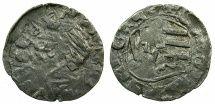 Denier of Dan I of Wallachia (1354-1386) Son of Radu I and Lady Ana. Husband to Maria of Serbia. House of Danesti