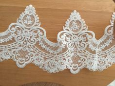 Beaded Alencon Lace Trim for Applique Corsets by lacetime on Etsy