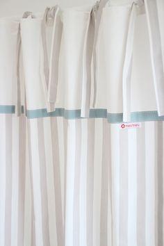 gardinen vorh nge vorhang eulen streifen rosa wei grau 140 x 250 cm ein designerst ck von. Black Bedroom Furniture Sets. Home Design Ideas