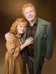 Molly and Arthur Weasley, probably the best parental figures in literature
