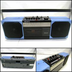 Baby blue boombox
