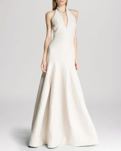 HALSTON HERITAGE Gown - Textured Halter from Bloomingdale's on Catalog Spree