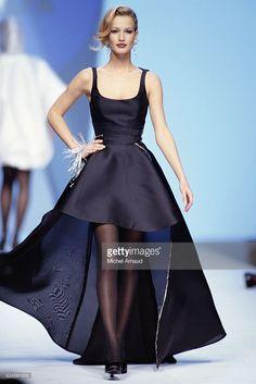 Karen Mulder Modeling Claude Montana Evening Gown