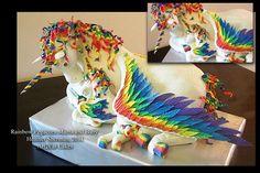 Rainbow Unicorn-Pegasus Mama and Baby  - via @Craftsy