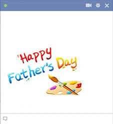 With this colorful message, you can enthusiastically wish your dad a Happy Father's Day.