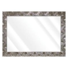 Unbranded Large Rectangle Shiny Silver Beveled Glass Art Deco Mirror (42 in. H x 30 in. W)-16775-36-58S - The Home Depot Vanity Light Bar, Led Vanity Lights, Contemporary Wall Mirrors, Art Deco Mirror, Beveled Glass, Amazing Art, Glass Art, Frame, Silver