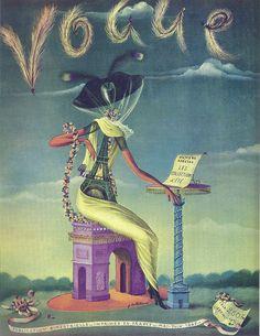 Vintage Vogue Covers, 1947 #VintageVogueCoversKisyovaLazarinova