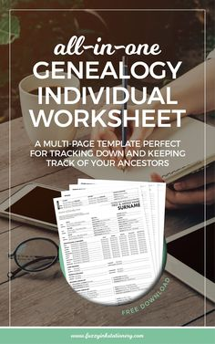 All-in-one genealogy worksheet free download Genealogy Organization, Organisation, Genealogy Search, Free Genealogy Records, Free Genealogy Sites, Genealogy Chart, Genealogy Forms, Family Genealogy, Ancestry Free