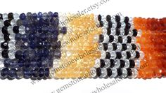 Multi Faceted Roundel (Quality A) / (A pack of 2 strands) / 4 to 4.5 mm / 11 to 13 Grms / 36 cm / MI-004 by GemstoneWholesaler on Etsy