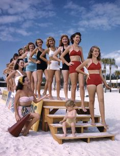 'Sarasota Sun-Debs' - Lido Beach, Florida, January 1949