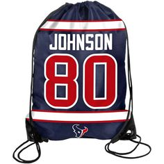 Andre Johnson Houston Texans Player Drawstring Backpack - Navy Blue - $5.69