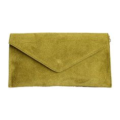 Lucia Italian Olive Green Leather Envelope Clutch Bag - £24.99 Lush Green, Olive Green, Italian Olives, Italian Women, Leather Clutch Bags, Envelope Clutch, Green Leather, Italian Leather, Leather Bum Bags