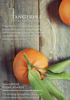 Tangerine Essential Oil home remedies!