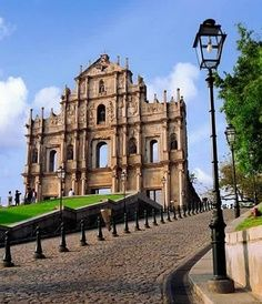 Macau - St. Paul's Basilica been here it was neat! Love shopping here/ good memories with my daughter Megan.