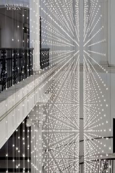 Cooper Joseph Studio, Rush Design, and Studio 1Thousand encourage visitors to take the stairs at the Museum of the City of New York via Starlight, 11,000 glittering LEDs mounted on double-sided circuit boards. Photography by Eduard Hueber/Archphoto.: