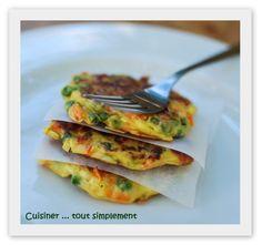 Galettes de Légumes à la Vache Qui Rit - Cuisiner... tout Simplement, Le Blog de cuisine de Nathalie