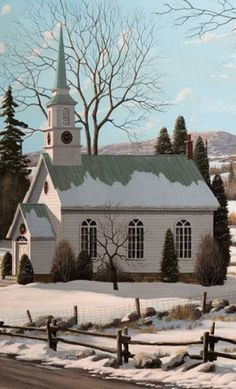 The love of God through peace and joy will each of us attend. And guide our ways these coming days until we meet again. † (You can sing this to the tune of Amazing Grace.)   ..rh Kirchen, Iglesias, Barns, Take Me To Church, My Church, Cathedral Church, Winter Snow, Winter Time, Abandoned Churches