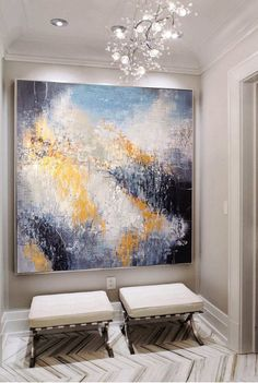 Large Painting On Canvas Original Gold Painting White Abstract Painting Contemporary Art Abstract Painting Acrylic Living Room Wall Art - Black And White Painting, White Art, Black And White Abstract, Art Blanc, Grand Art, Large Painting, Large Art, Cool Artwork, Painting Techniques