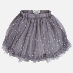 06042508b6 Falda niña tul fantasía Gris Pijamas Para Niñas
