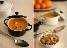 CREME DE CENOURA E LARANJA Para 4  3 cenouras médias 1 laranja - raspa e sumo 1 cebola média 1 dente de alho 1/2 curgete 1/2 talo de alho francês Azeite qb