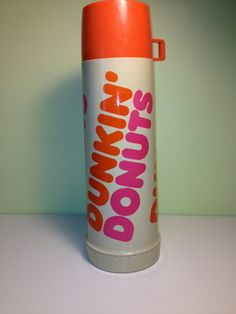 Vintage Dunkin' Donuts Thermos-Large Dunkin Donuts, Doughnuts, Vintage Restaurant, Boston Strong, Thrifting, Good Things, Etsy, Restaurants, Coffee