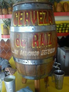 Cerveza de raíz ( zarzaparrilla)