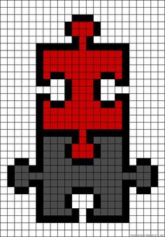 I wonder if I didn't do the black outline, if I could make them functional too. Melty Bead Patterns, Perler Patterns, Loom Patterns, Beading Patterns, Cross Stitching, Cross Stitch Embroidery, Cross Stitch Patterns, Alpha Patterns, Canvas Patterns