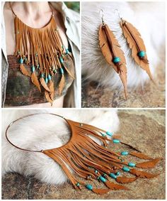 jpg × The post tVFsCwyhvc … - Diy Jewelry Crafts Club Fabric Jewelry, Boho Jewelry, Jewelry Crafts, Jewelry Art, Handmade Jewelry, Jewelry Design, Jewellery, Leather Necklace, Leather Jewelry