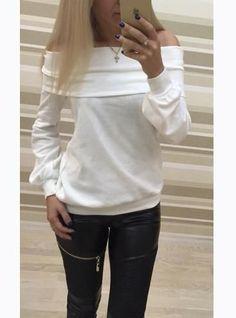 Women's Off shoulder Casual Sweatshirt