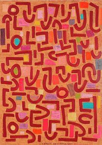 Paul Klee Painting - Pastels by Sigalit Butterfly Benjamin