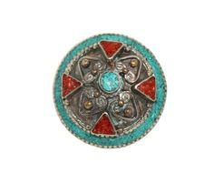 big turquoise gypsy ring