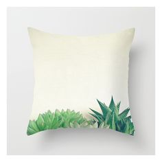 Succulent Forest Throw Pillow ($20) ❤ liked on Polyvore featuring home, home decor, throw pillows and forest home decor