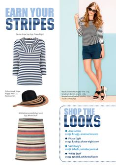 ~ Earn your stripes ~ Step out in style this spring... #locallife #Farnham #Surrey #fashion #style #stripes #spring