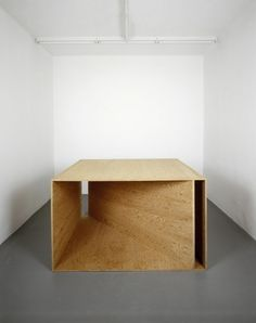 plywood sculpture  ~ donald judd