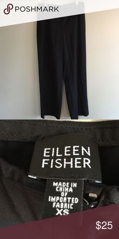 790d3b5acb590f Eileen Fisher Black Slacks Eileen Fisher pants - size XS. EUC - See photos  for details. Approx. Measurements  Waist - 15
