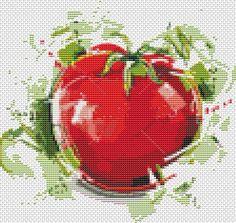 Tomato Kitchen Series  Mini Cross Stitch by TheArtofCrossStitch, $4.99
