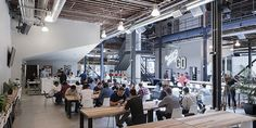 Pinterest Decks Out Its New San Francisco HQ In A Clean, Industrial Style / Dorothy Tan + @DesignTAXI Crew   #workspaces
