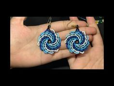 Quilling Earrings, Bead Earrings, Crochet Earrings, Beading Projects, Beading Tutorials, Duct Tape Crafts, Peyote Beading, Earring Tutorial, Pearler Beads