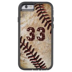 Jersey Number Cool Vintage Baseball iPhone 6 Cases Tough Xtreme iPhone 6 Case