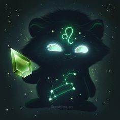 I made this new glowing monster series - Zodiac signs. Each glowing monster is holding his birthstone. You can also see star constellations on their bellies. Zodiac Signs Leo, Zodiac Art, 12 Zodiac, Zodiac Horoscope, Zodiac Cancer, Astrology, Zodiac Capricorn, Fantasy Creatures, Mythical Creatures
