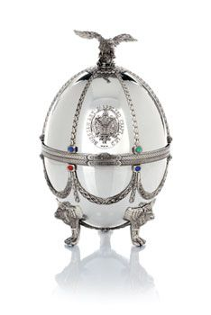 Imperial Collection Carafe in Silver Faberge Egg | Prowood Wine and ...