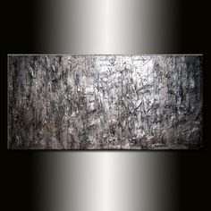 Texture Silver Metallic Abstract painting by newwaveartgallery