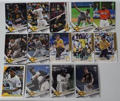 2017 Topps Update Pirates Master Team Set of 14 Baseball Cards W/ SP Variations #topps #PittsburghPirates