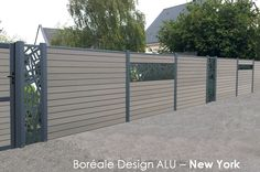 Lame deco pour cloture composite en aluminium - Boreale Design NEW YORK - Océwood®