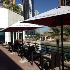 Lakeside views of 'nosh' al fresco terrace