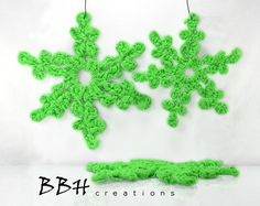 Christmas Snowflake Ornament / Handcrafted Crochet by BBHCreations, $14.95