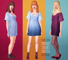 [TS3] Baggy Short Dress for Young + Adult Female - TAMO