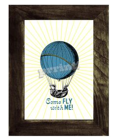 Hot air Balloon wall art Come fly with me collageLove by PRRINT, $8.99